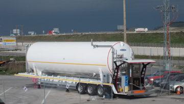 HAM diseña y construye la unidad móvil de GNL que se instalará en la estación de Beroil de la A1 en Burgos.