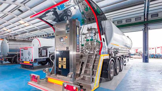 Grupo HAM diseña y fabrica estaciones de servicio móviles de gas natural licuado y gas natural comprimido